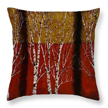 Betulle Quadrate Throw Pillow by Guido Borelli