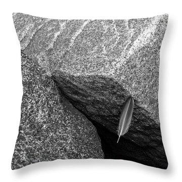 Between A Rock Throw Pillow