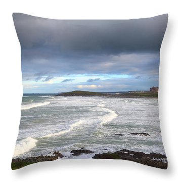 Throw Pillow featuring the photograph Between Cornish Storms 1 by Nicholas Burningham