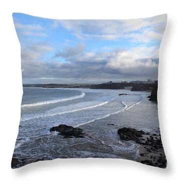 Between Cornish Storms 2 Throw Pillow by Nicholas Burningham
