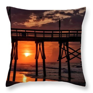 Throw Pillow featuring the photograph Between by DJA Images