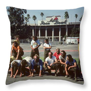 Between Fires Throw Pillow