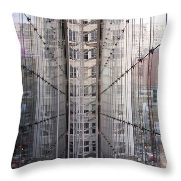 Throw Pillow featuring the photograph Between Glass Walls by Rona Black