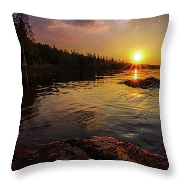 Between Heaven And Earth Throw Pillow by Rose-Marie Karlsen