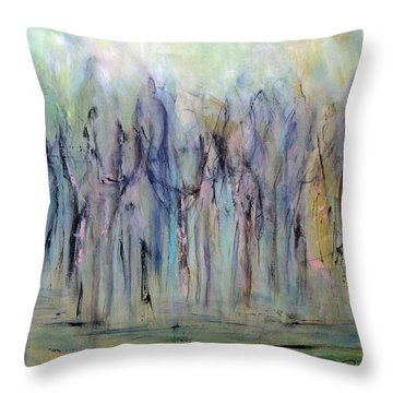 Between Horse And Men Throw Pillow