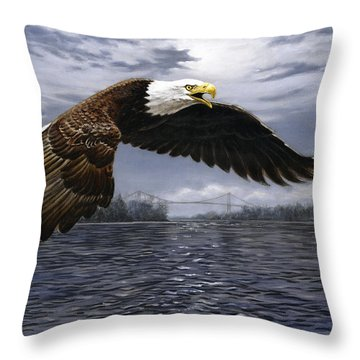Between Nations Throw Pillow