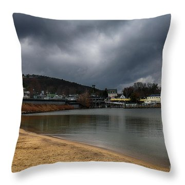 Between Raindrops Throw Pillow