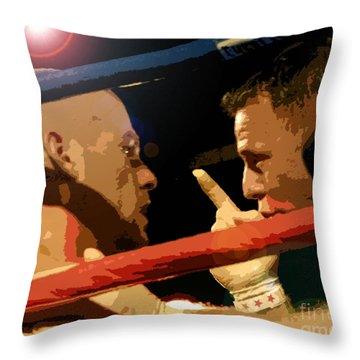 Between Rounds Throw Pillow by David Lee Thompson