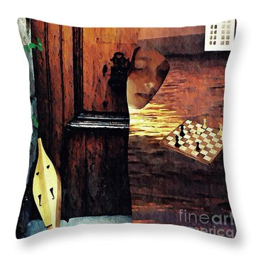 Between Throw Pillow by Sarah Loft