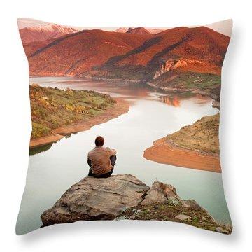 Between Seasons Throw Pillow by Evgeni Dinev