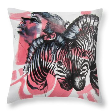 Between Stripes Throw Pillow