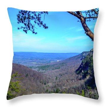 Between The Cliffs Throw Pillow
