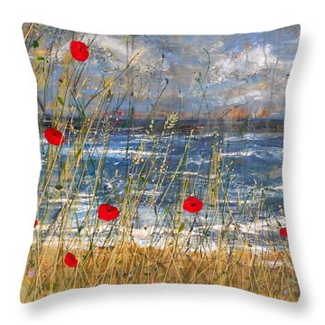 Between The Crosses Detail Throw Pillow