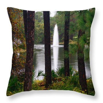 Between The Fountain Throw Pillow