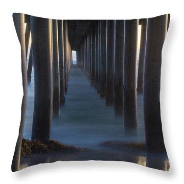 Between The Pillars  Throw Pillow