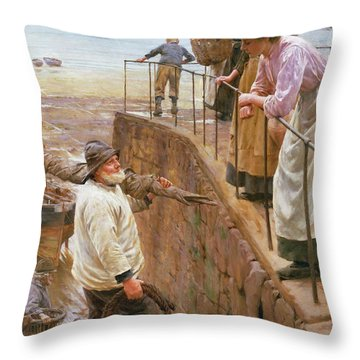 Between The Tides Throw Pillow