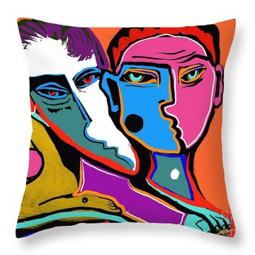 Between Two Brothers Throw Pillow
