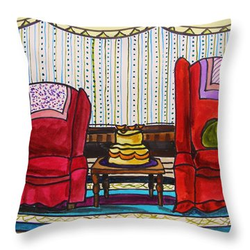 Between Two Reds Throw Pillow by John Williams