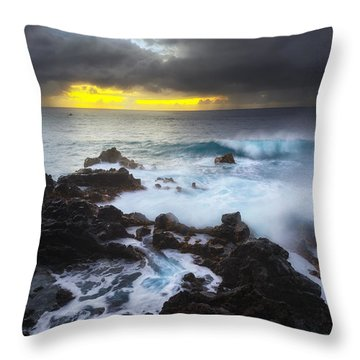 Throw Pillow featuring the photograph Between Two Storms by Ryan Manuel
