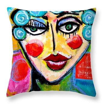 Beulah - Vivid Vixen 2 Throw Pillow