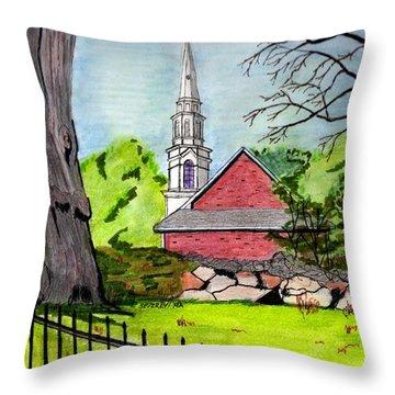 Beverly First Baptist Church Throw Pillow