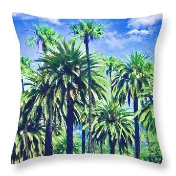 Beverly Hills Palms Throw Pillow