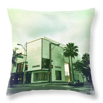Beverly Hills Rodeo Drive 13 Throw Pillow by Nina Prommer