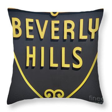 Beverly Hills Sign Throw Pillow