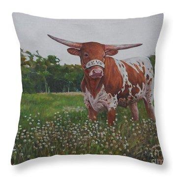 Bevo Throw Pillow