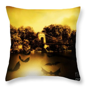 Beware Of Bats Throw Pillow