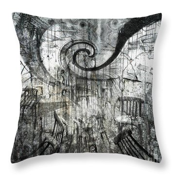 Beware Of Darkness Throw Pillow