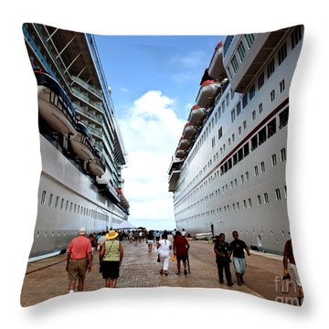 Beween Two Ships Throw Pillow