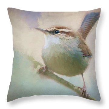 Bewicks Wren - 365-131 Throw Pillow