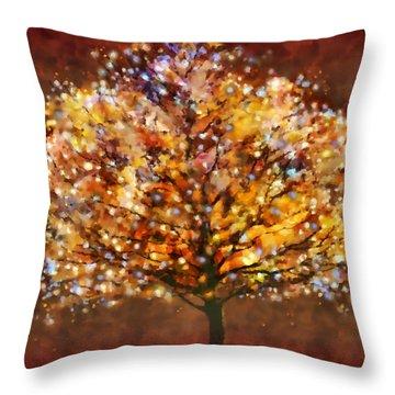 Starry Tree Throw Pillow