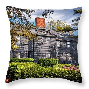 Bewitching Salem Throw Pillow by Carol Japp