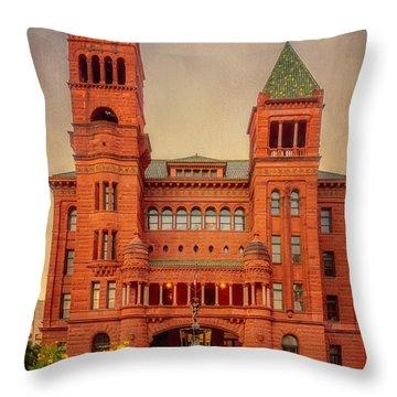 Bexar County Courthouse Throw Pillow