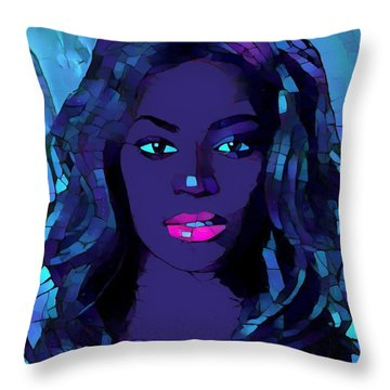 Beyonce Graphic Abstract Throw Pillow by Dan Sproul
