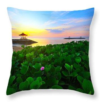 Throw Pillow featuring the photograph Beyond Beauty  by Kadek Susanto
