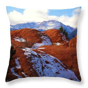 Beyond The Red Throw Pillow by Clarice  Lakota