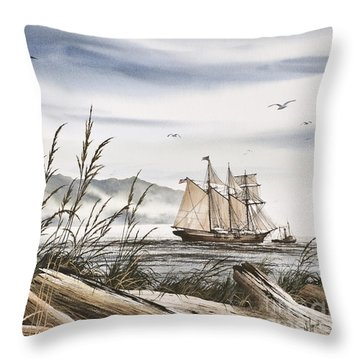 Beyond Driftwood Shores Throw Pillow by James Williamson