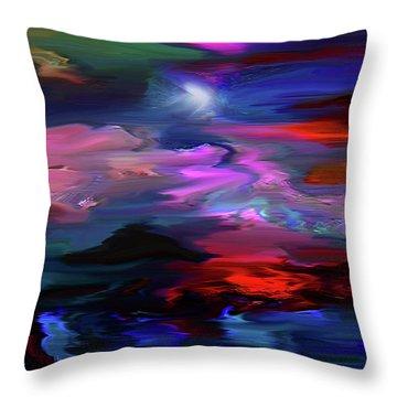 Beyond The Blue Horizon Throw Pillow