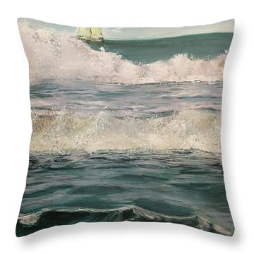Beyond The Breakers Throw Pillow