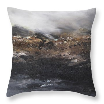 Beyond The Cliffs Throw Pillow