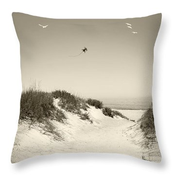 Beyond The Dunes Throw Pillow