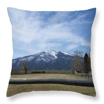 Beyond The Field Throw Pillow by Jewel Hengen