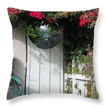 Beyond The Garden Gate Throw Pillow by Suzanne Gaff