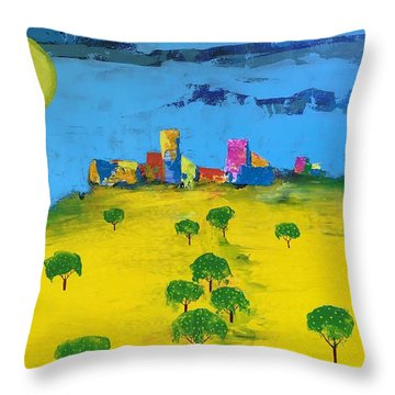 Beyond The Lemon Grove Throw Pillow