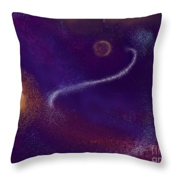 Throw Pillow featuring the painting Beyond The Realms Of Ancient Light by Roxy Riou