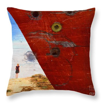 Beyond The Sky Throw Pillow by Tara Turner