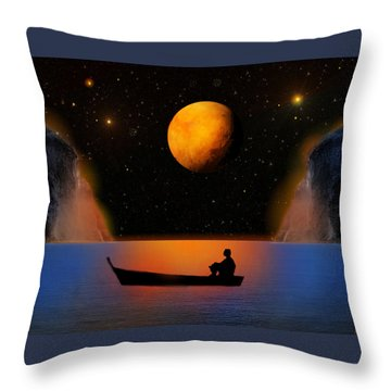 Throw Pillow featuring the photograph Beyond The Stars by Bernd Hau